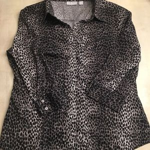 New York & Company animal print blouse. Size XL